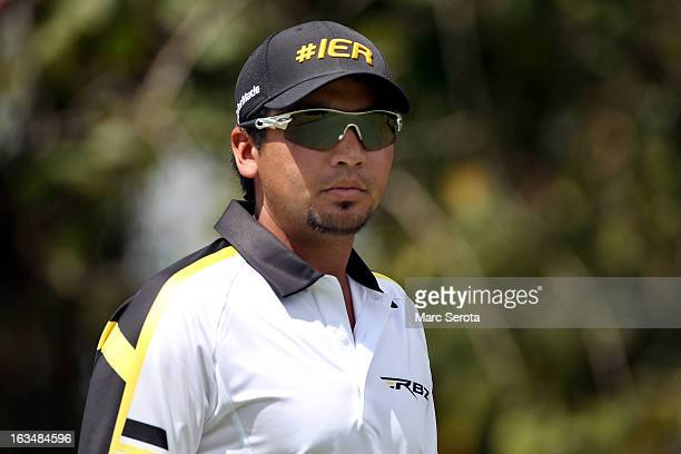 Golfer Jason Day hits on the 12th fairway at the World Golf ChampionshipsCadillac Championship at the Trump Doral Golf Resort Spa on March 10 2013 in...