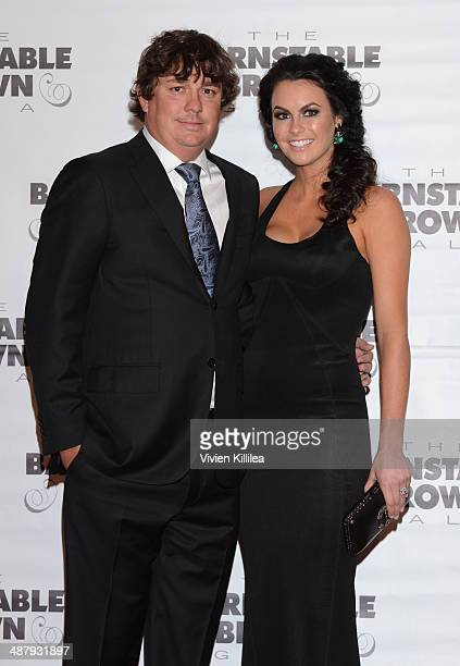Golfer Jason Dufner and Amanda Dufner attend the Barnstable Brown Kentucky Derby Eve Gala at Barnstable Brown House on May 2 2014 in Louisville...