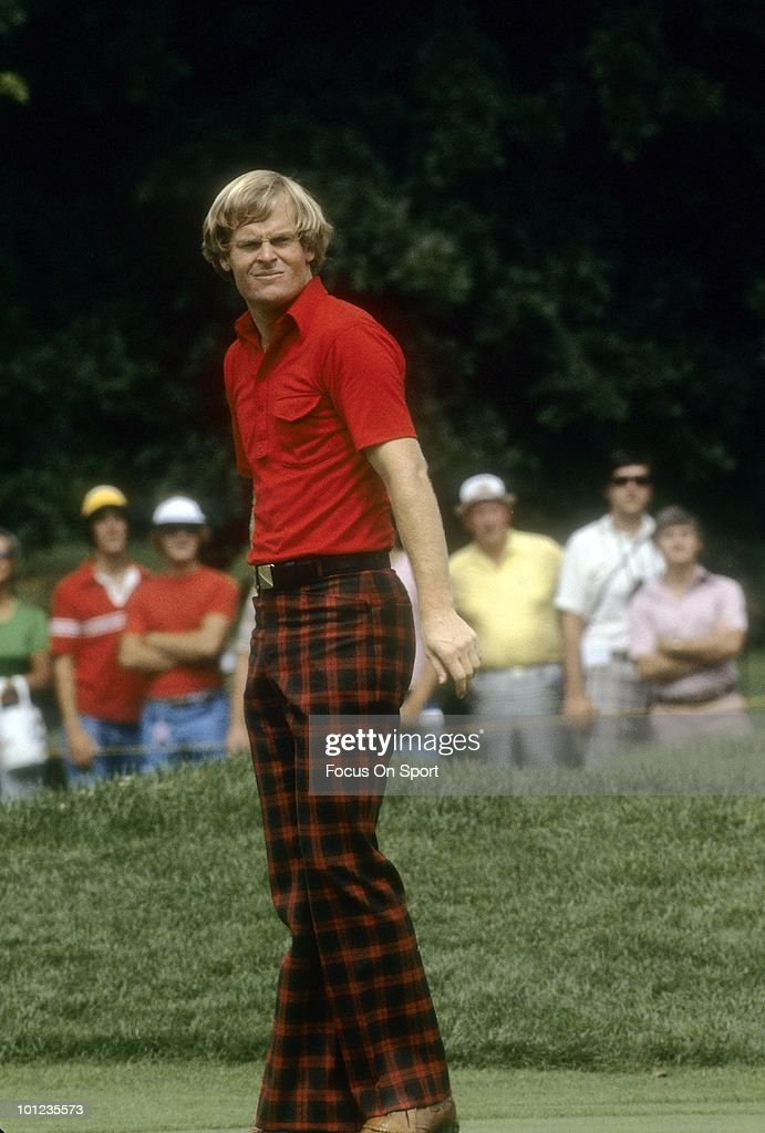 Golfer Johnny Miller in this portrait circa 1978 during tournament play.