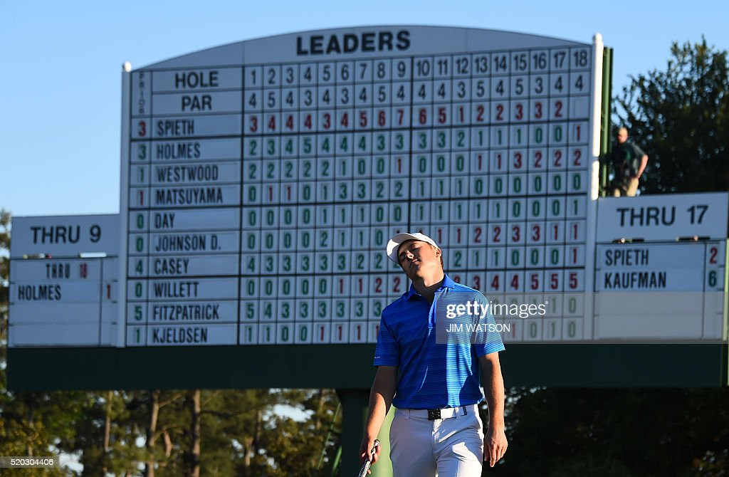 GOLF-US-MASTERS-ROUND4-FINAL : News Photo