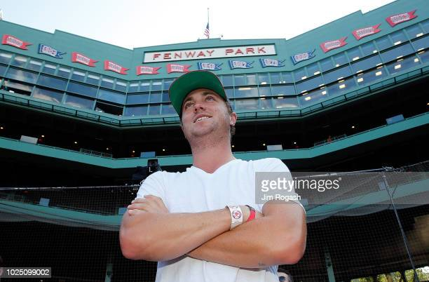 Golfer Justin Thomas takes a tour of Fenway Park before a game between the Boston Red Sox and the Miami Marlins on August 29, 2018 in Boston,...