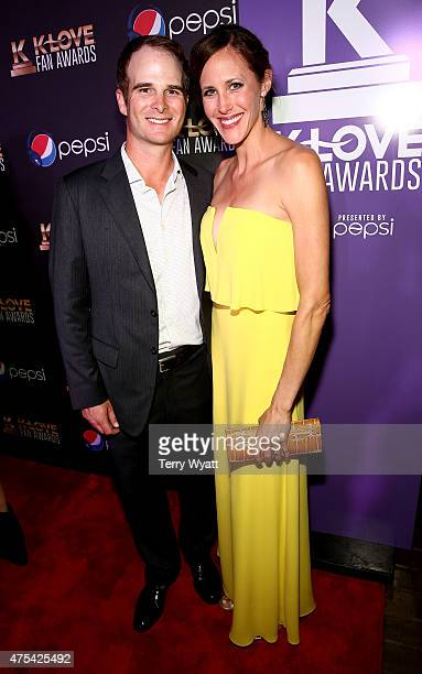 Golfer Kevin Streelman and wife Courtney Streelman attend the 3rd Annual KLOVE Fan Awards at the Grand Ole Opry House on May 31 2015 in Nashville...