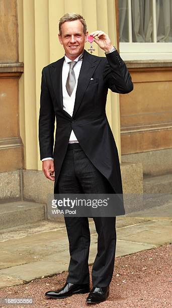 Golfer Luke Donald after receiving his Member of the British Empire medal from the Prince of Wales following an Investiture ceremony at Buckingham...