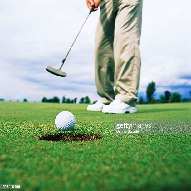 Golfer Making Putt