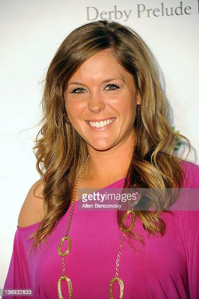 LPGA golfer Mallory Blackwelder arrives at the Los Angeles Derby prelude party at The London Hotel on January 12 2012 in West Hollywood California