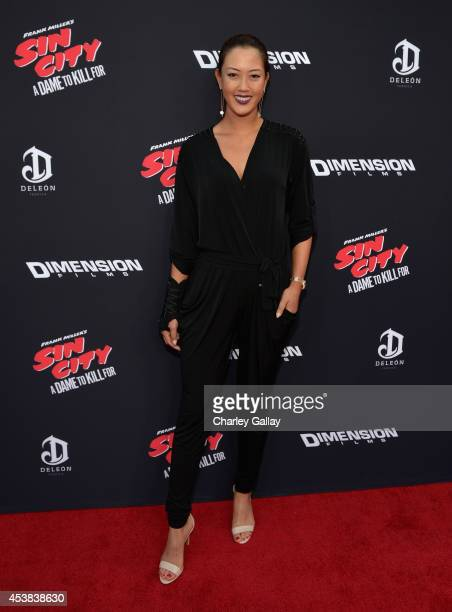 Golfer Michelle Wie attends 'SIN CITY A DAME TO KILL FOR' premiere presented by Dimension Films in partnership with Time Warner Cable Dodge and...