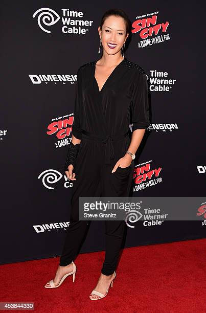 Golfer Michelle Wie attends the 'Sin City A Dame To Kill For' Los Angeles premiere at TCL Chinese Theatre on August 19 2014 in Hollywood California
