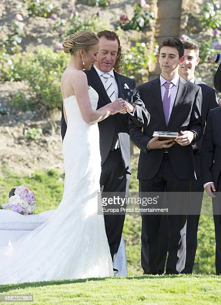 Golfer Miguel Angel Jimenez and Susanna Styblo get married at Miguel Angel Jimenez Golf Club on May 3 2014 in Torremolinos Spain