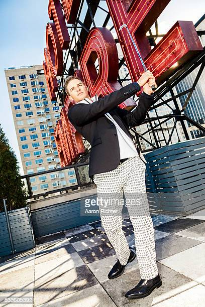 Golfer Morgan Hoffmann is photographed for Golf Digest Magazine on December 12 2013 in New York City PUBLISHED IMAGE