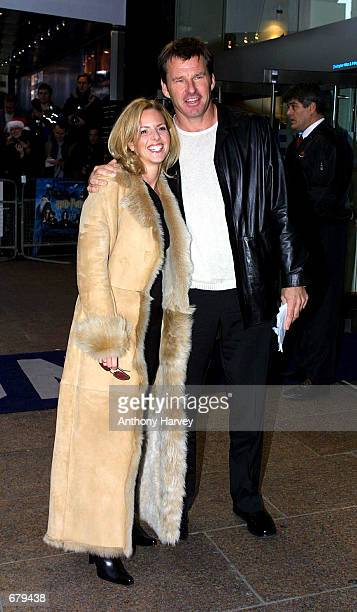 Golfer Nick Faldo and his wife arrive for the world premiere of Harry Potter and the Philosopher's Stone November 4 2001 in London