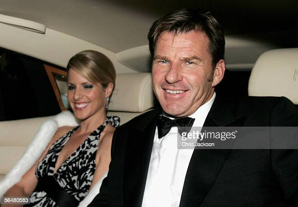 Golfer Nick Faldo and his wife Valerie arrive for the reception following Sir Elton John and David Furnish's civil partnership ceremony held earlier...