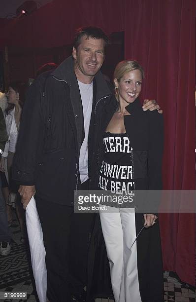 Golfer Nick Faldo and his wife Valerie attend the after party of the Spiderman London Premiere at the In and Out Club in London on the 5th of June...
