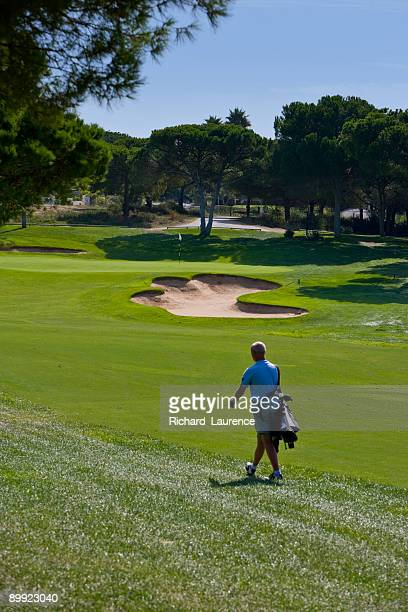 Golfer on a Portuguese golf course