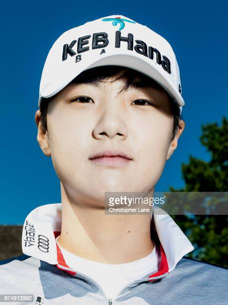 Golfer Park Sunghyun is photographed on July 13 2017 at the US Open in Bedminster New Jersey