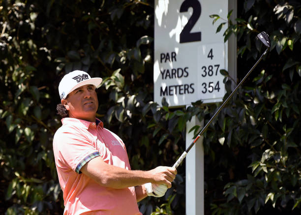 Us Golfer Pat Perez Plays His Shot From The Second Tee During Third