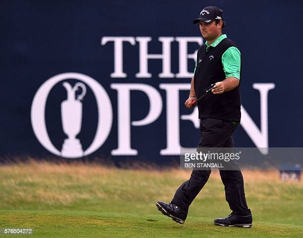 US golfer Patrick Reed on the 18th green during his second round 74 on day two of the 2016 British Open Golf Championship at Royal Troon in Scotland...