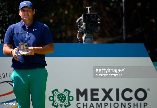 US golfer Patrick Reed waits for his turn at the 2nd hole tee during the third round of the World Golf Championship at Chapultepec's Golf Club in...
