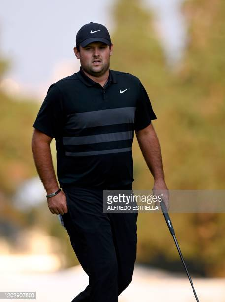 US golfer Patrick Reed walks the fairway to the 18st green during the fourth and last round of the World Golf Championship at Chapultepec's Golf Club...