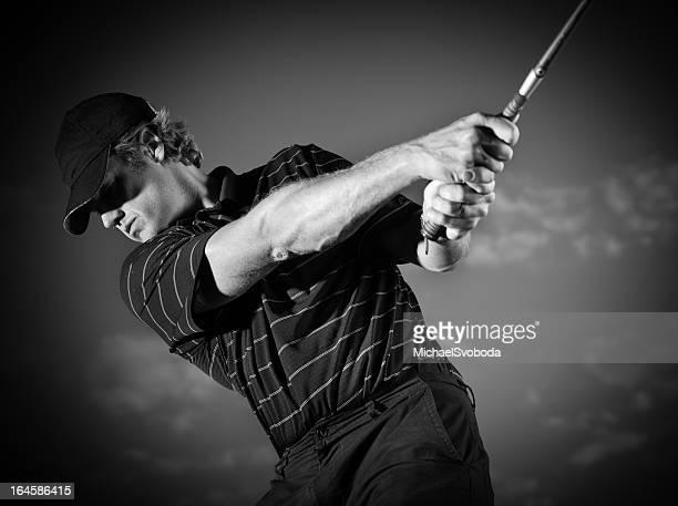 B&W Golfer