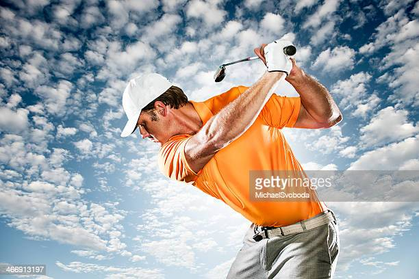 golfer - golf swing stock pictures, royalty-free photos & images