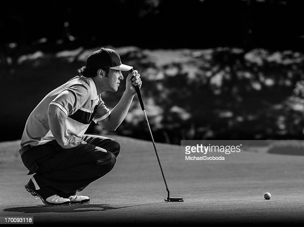 golfer putting - putting stock pictures, royalty-free photos & images