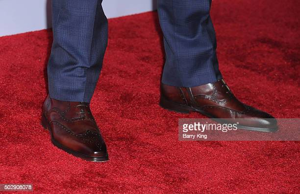 Golfer Rickie Fowler shoe detail attends the Rihanna And The Clara Lionel Foundation 2nd Annual Diamond Ball at The Barker Hanger on December 10 2015...
