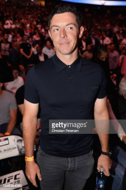 Golfer Rory McIlroy attends the UFC 229 event inside TMobile Arena on October 6 2018 in Las Vegas Nevada