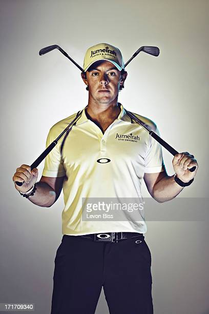 Golfer Rory McIlroy is photographed for GQ magazine on July 5 2012 in London England