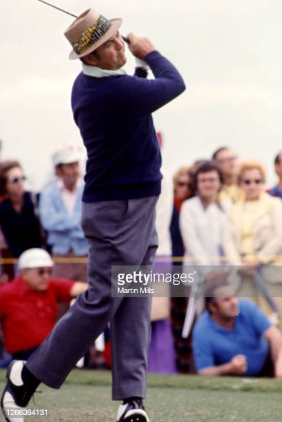 Golfer Sam Snead of the United States follows his shot during the 1973 Jackie Gleason Inverrary-National Airlines Classic on February 22, 1973 at the...