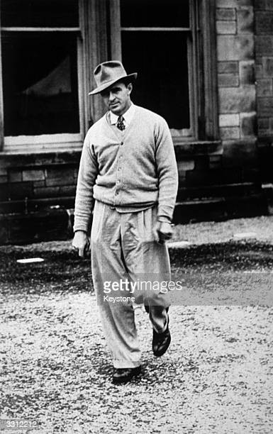 US golfer Sam Snead outside the clubhouse at St Andrews during the British Open Golf Championship which he won Considered to be one of the best...