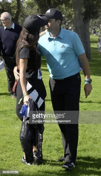 Golfer Sergio Garcia and his wife Angela Akins attend Andalucia Valderrama Masters at Valderrama Royal Club on October 19 2017 in Sotogrande Spain