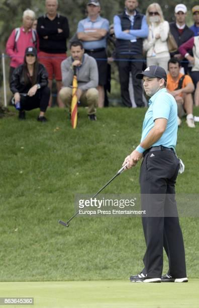 Golfer Sergio Garcia attends Andalucia Valderrama Masters at Valderrama Royal Club on October 19 2017 in Sotogrande Spain