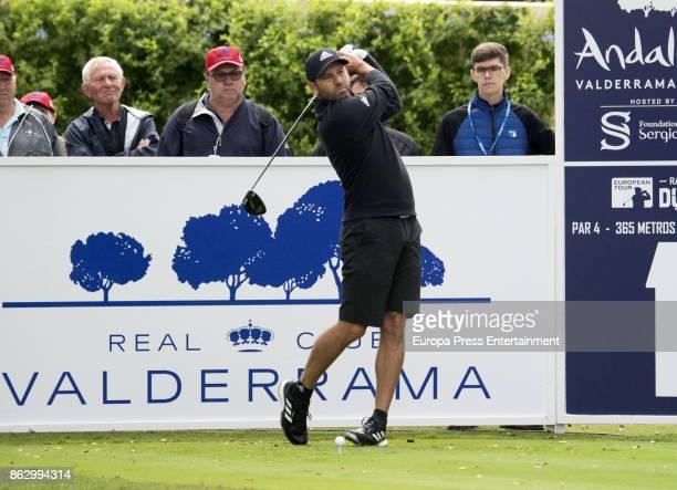 Golfer Sergio Garcia is seen playing golf at Valderrama Royal Club on October 18 2017 in Sotogrande Spain