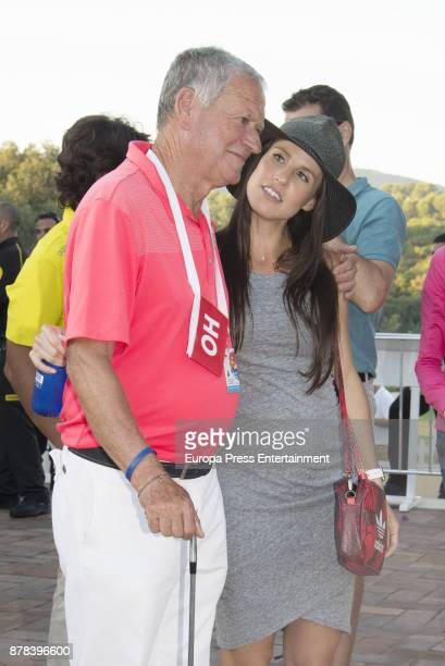 Golfer Sergio Garcia's father Victor Garcia and wife Angela Akins attend Andalucia Valderrama Masters at Valderrama Royal Club on October 22 2017 in...