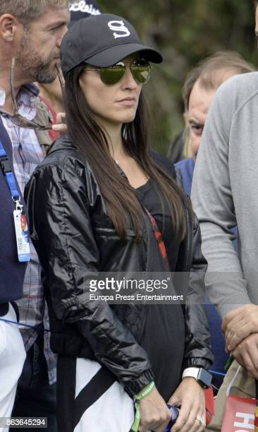 Golfer Sergio Garcia's wife Angela Akins attends Andalucia Valderrama Masters at Valderrama Royal Club on October 19 2017 in Sotogrande Spain