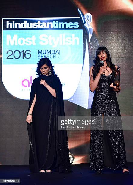 Golfer Sharmila Nicollet during Hindustan Times Most Stylish Awards 2016 at Taj Lands End Bandra on March 20 2016 in Mumbai India