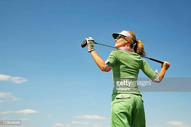 Golfer standing
