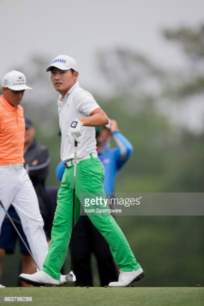 PGA golfer Sung Kang from the third tee during the Shell Houston Open on April 02 2017 at Golf Club of Houston in Humble TX