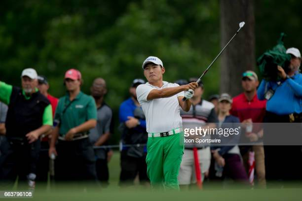 PGA golfer Sung Kang on the third fairway during the Shell Houston Open on April 02 2017 at Golf Club of Houston in Humble TX