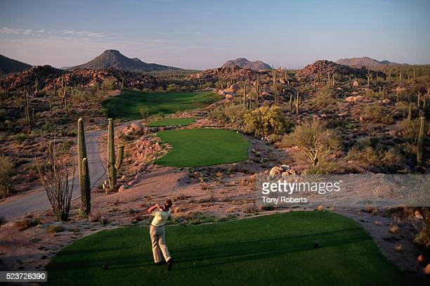 Golfer Teeing off at Troon North