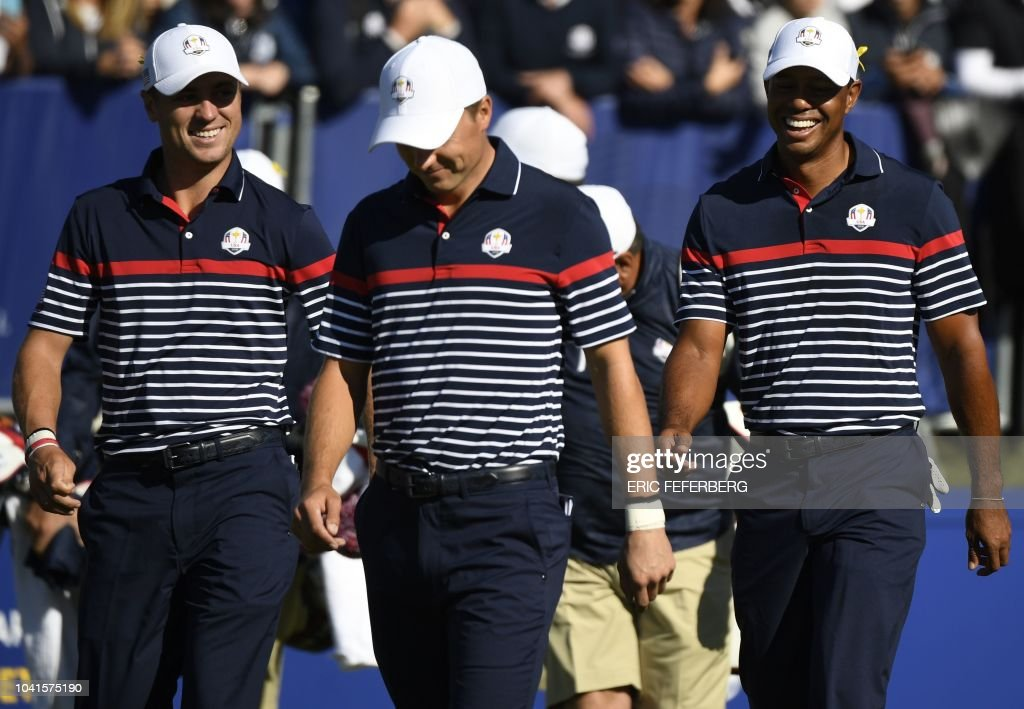 GOLF-FRA-RYDER-CUP-PRACTICE : News Photo