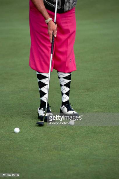 Golfer Wearing Argyle Socks