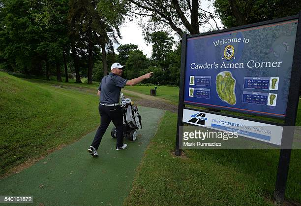 Golfers at Cawders Amen Corner during the PGA National ProAm Qualifiers Scotland at Cawder Golf Club on June 14 2016 in Glasgow Scotland