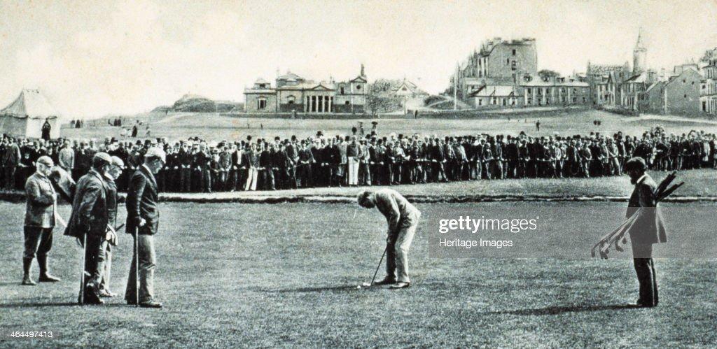 Golfers at the Open Championship, St Andrews, Scotland, 1890. : Foto jornalística