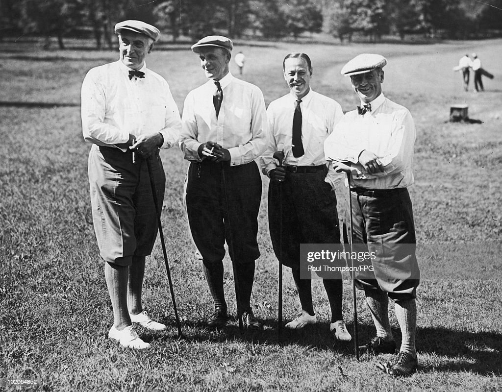Golfers at the Piping Rock Golf Links on Long Island, 13th