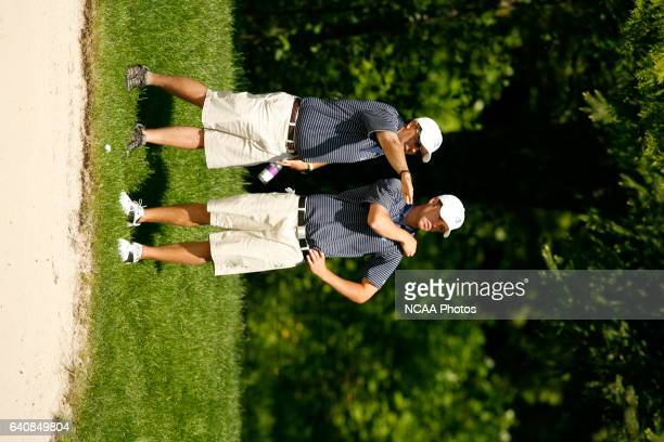 Golfers compete during the Division II Men's Golf Championship held at the Loomis Trail Golf Club in Blaine WA Jamie Schwaberow/NCAA Photos via Getty...