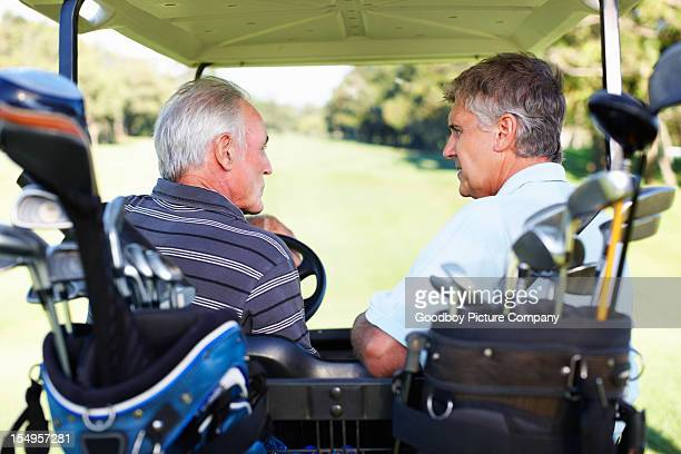 Golfers discussing