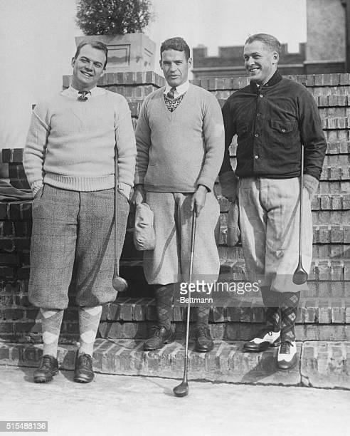 Golfers Jesse Sweetser winner of the 1926 British Amateur Golf ChampionshipWatts Gunn of Atlanta runnerup in the 1925 American Amateur championship...