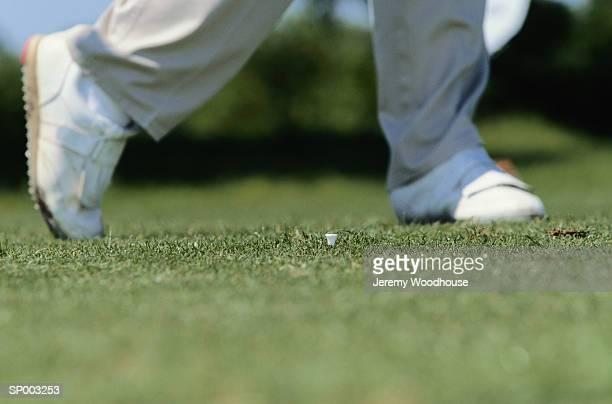 Golfer's Legs in Swing Stance