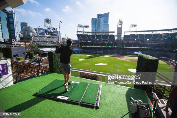 Golfers participate in the The Links at PETCO Park by Callaway at PETCO Park on November 18, 2020 in San Diego, California.